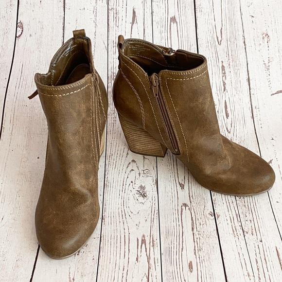 Crown Vintage // Brown Heeled Ankle Booties